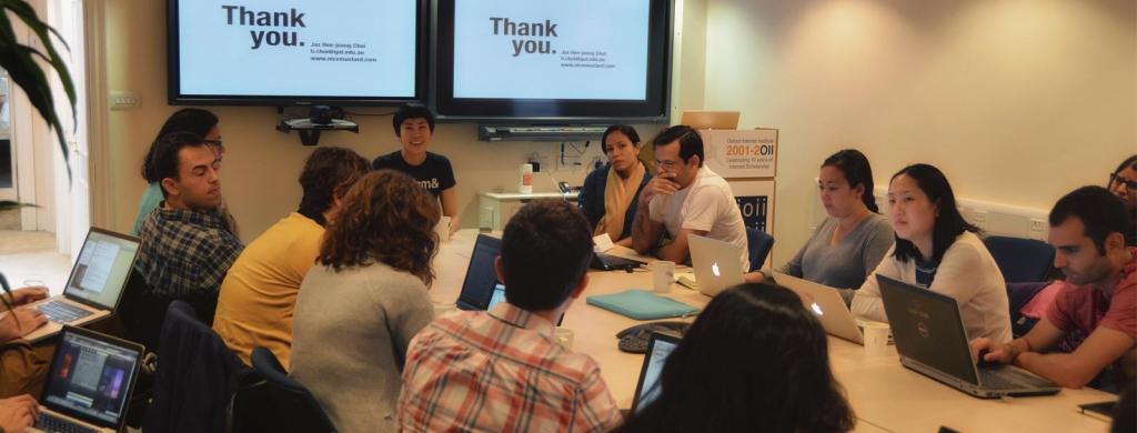 SDP2012: Jaz Choi leads a seminar.