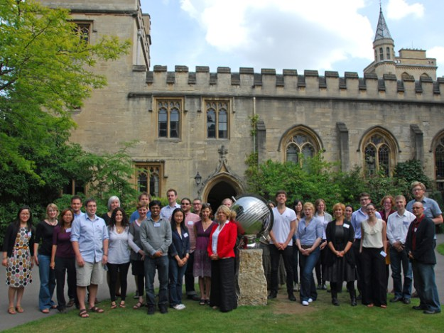 The SDP2011 student group on the ground of Balliol College, Oxford. The SDP brings together advanced doctoral students engaged in dissertation research relating to the Internet and other ICTs for a fortnight every summer.