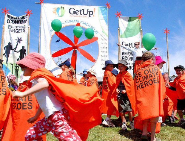 GetUp! climate change torch relay, Canberra