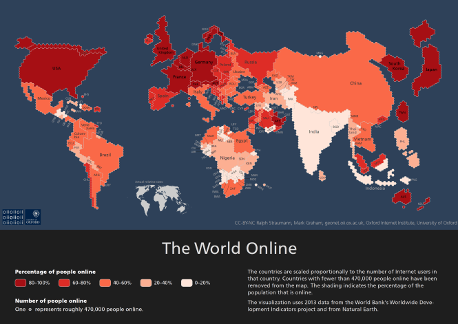 Internet Population cartogram