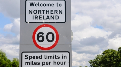 Northern Irish border sign