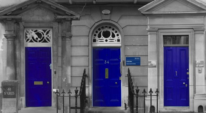 Doors of the OII's three buildings